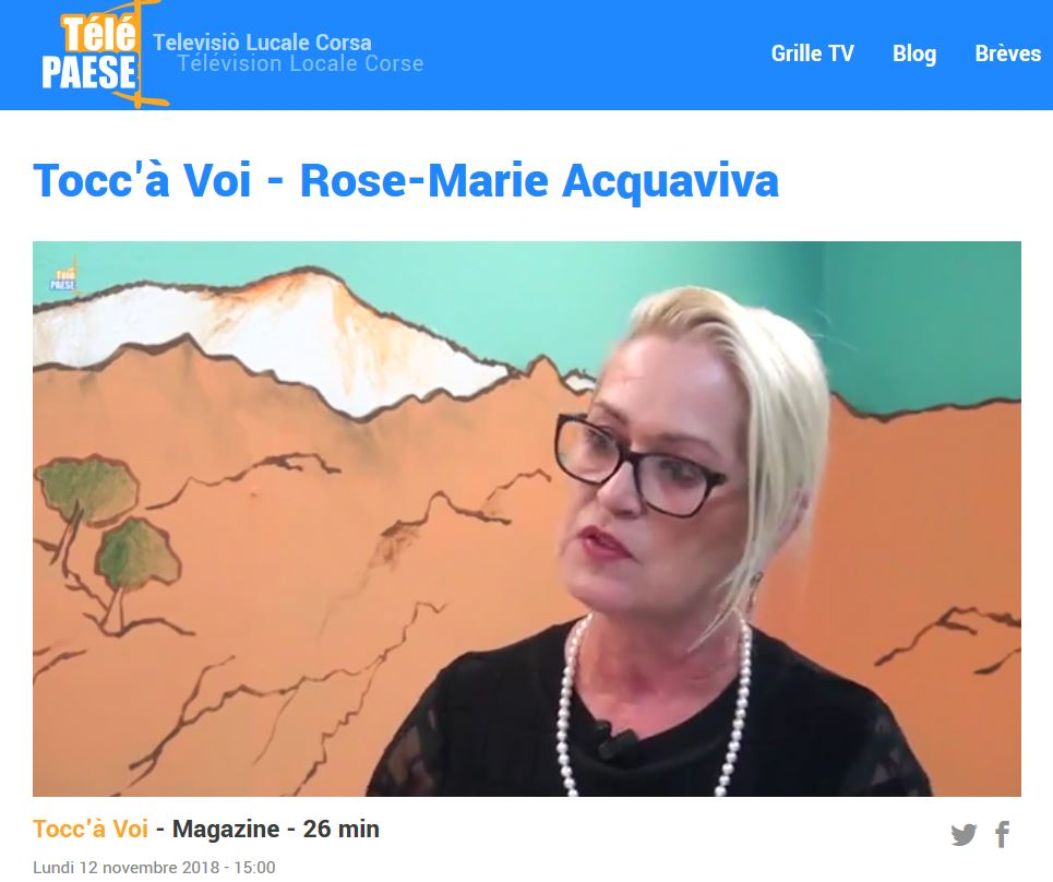 Rose-Marie NAVARRO-ACQUAVIVA - Interview Télépaese